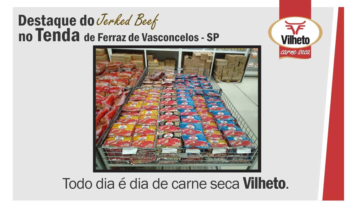 Destaque da carne seca no Tenda de Ferraz de Vasconcelos em SP