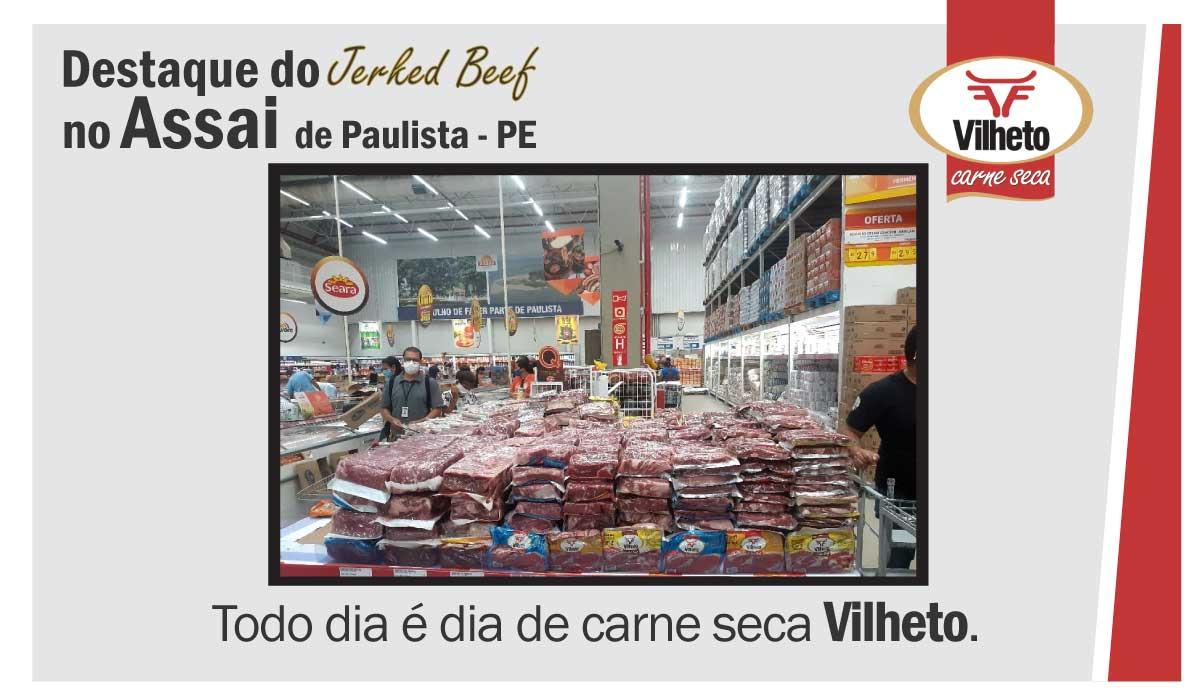 Destaque da carne seca no Assaia, de Paulista em PE