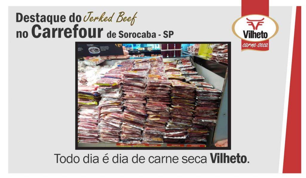 Destaque da carne seca no Carrefour, de Sorocaba em SP