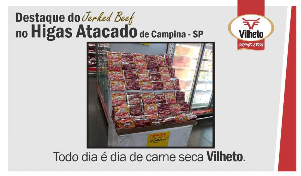 Destaque da carne seca no Atacado Higas, de Campinas em SP