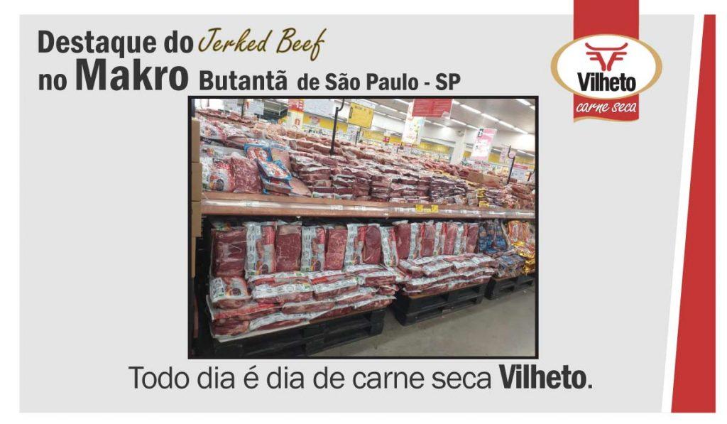 Destaque da carne seca no Makro Butantã, de São Paulo em SP