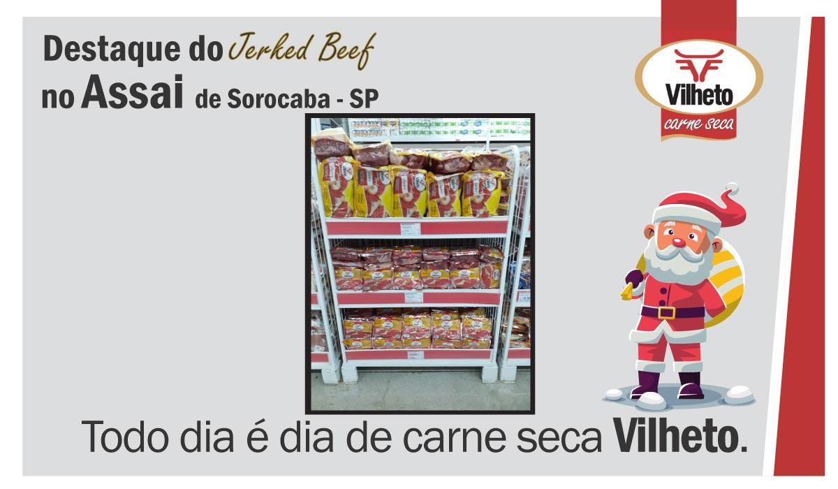 Carne seca no Assai, de Sorocaba em SP