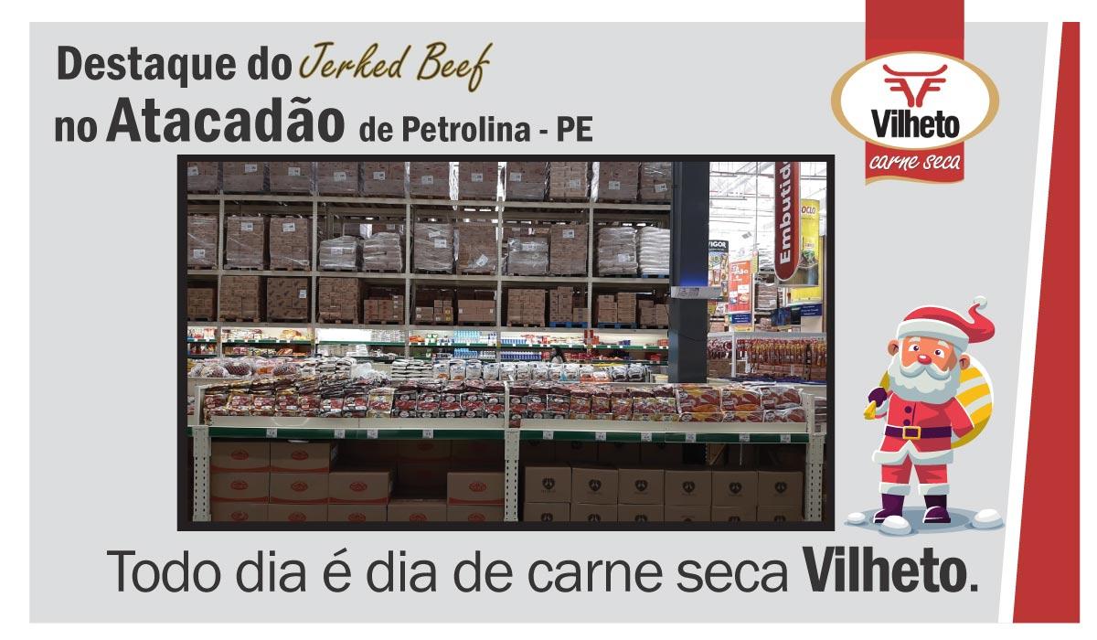 Carne seca no Atacadão, de Petrolina em PE