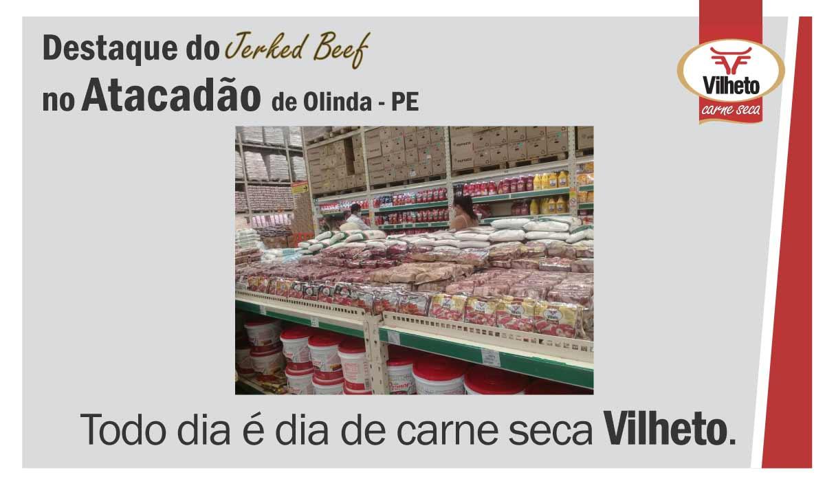 Carne seca no Atacadão, em Olinda no Pernambuco