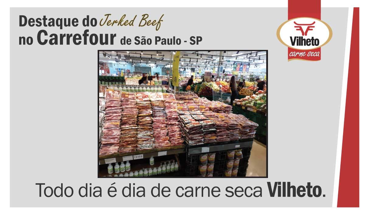 Carne seca no Carrefour, de São Paulo em SP