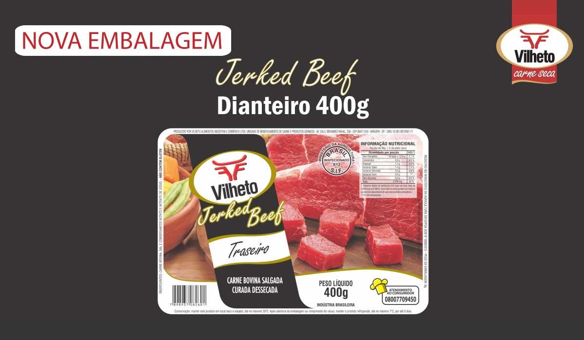 Nova embalagem de carne seca Vilheto de traseiro 400g
