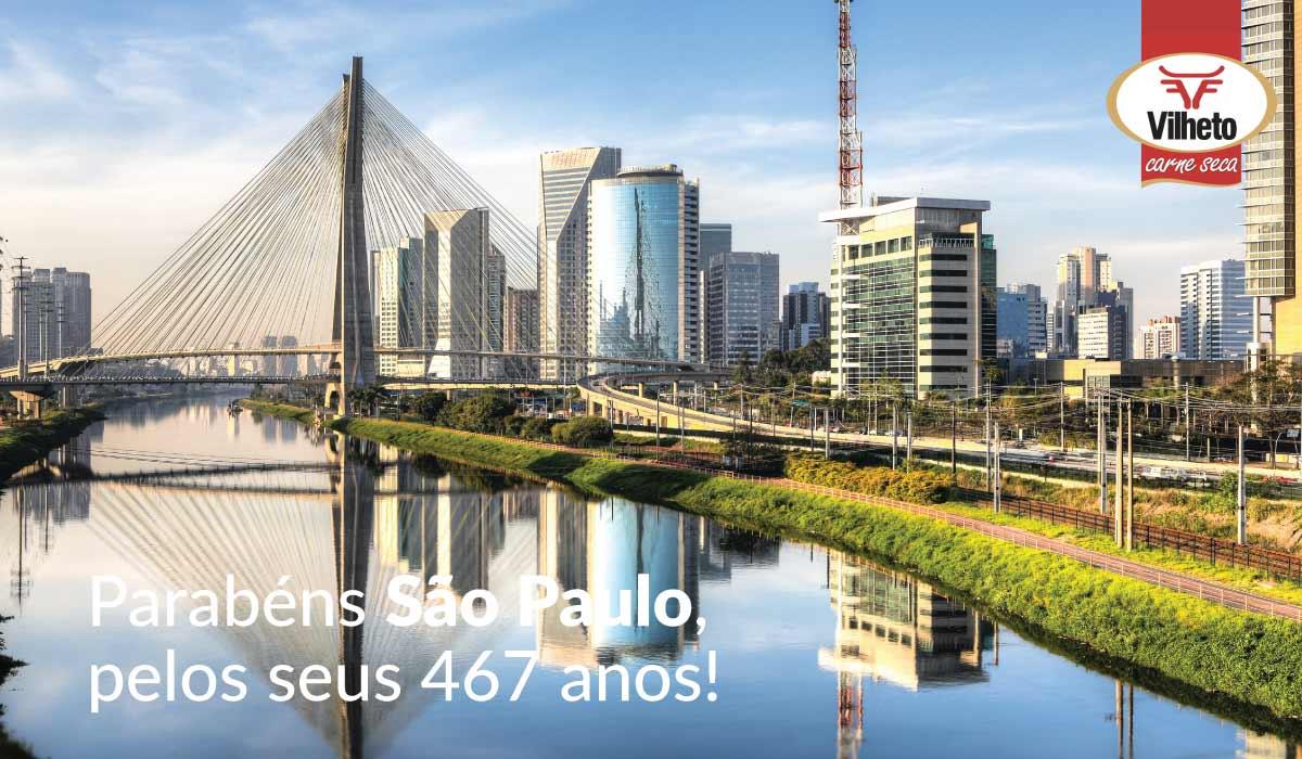 Parabéns São Paulo, pelos seus 467 anos!