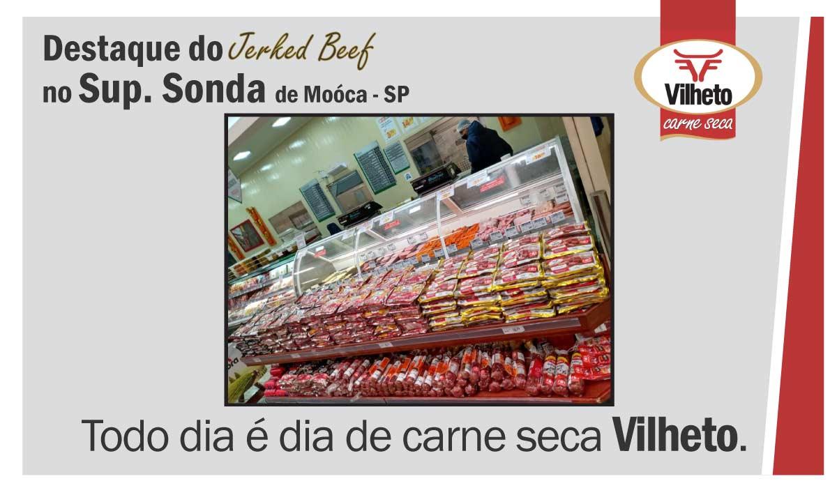 Carne seca no Supermercado Sonda, de Móoca em SP