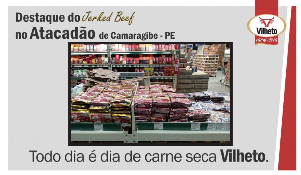 Carne seca Vilheto no Atacadão, de Camaragibe no Pernambuco.