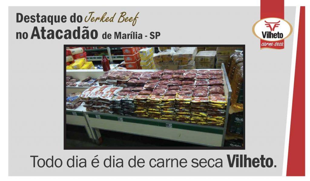 Carne seca Vilheto no Atacadão em Marília – SP