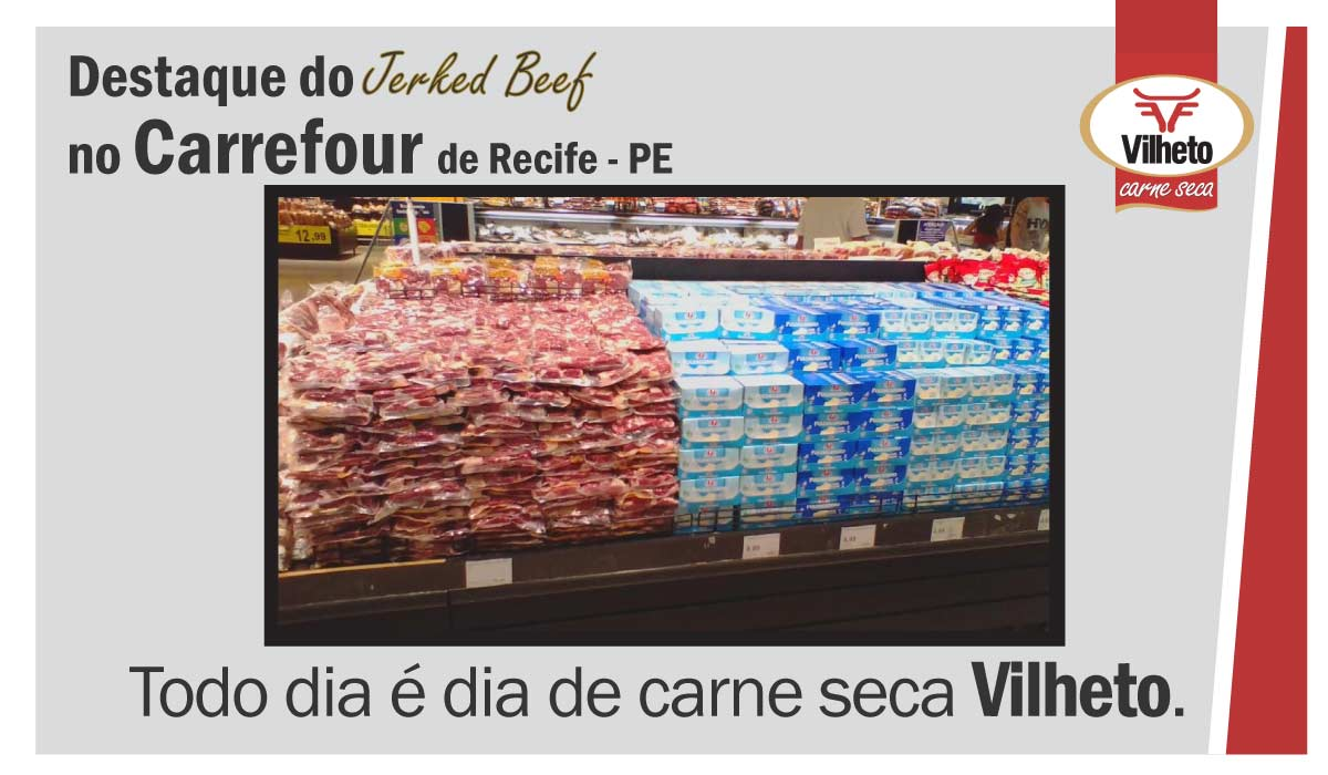 Carne seca Vilheto no Carrefour do Recife – PE