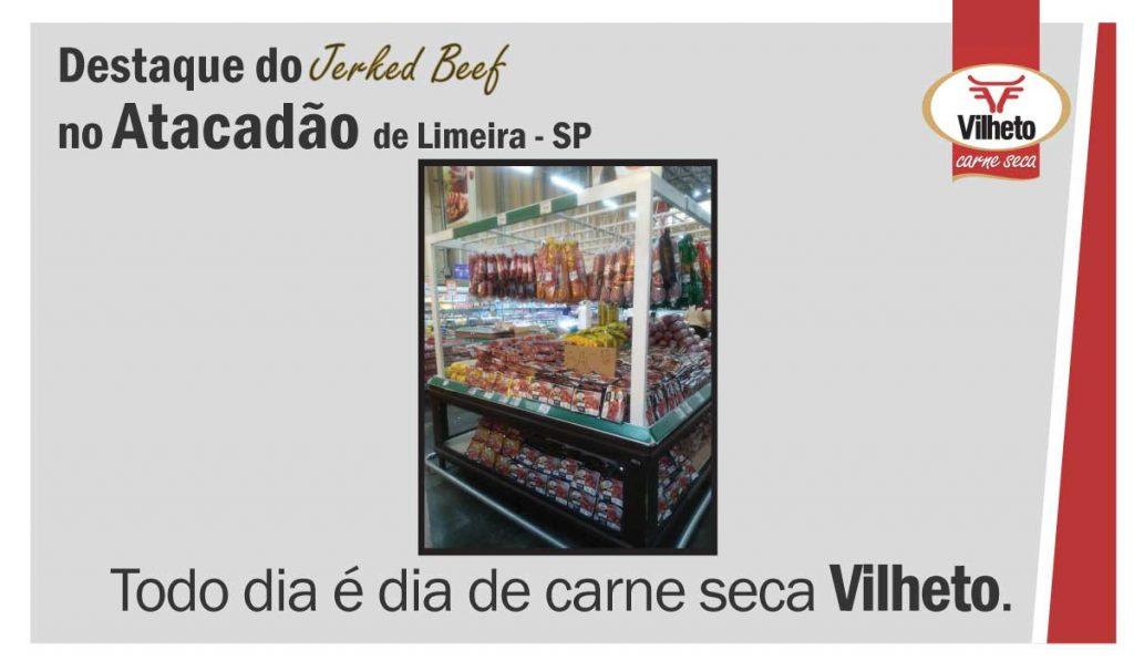 Carne seca Vilheto no Atacadão em Limeira – SP