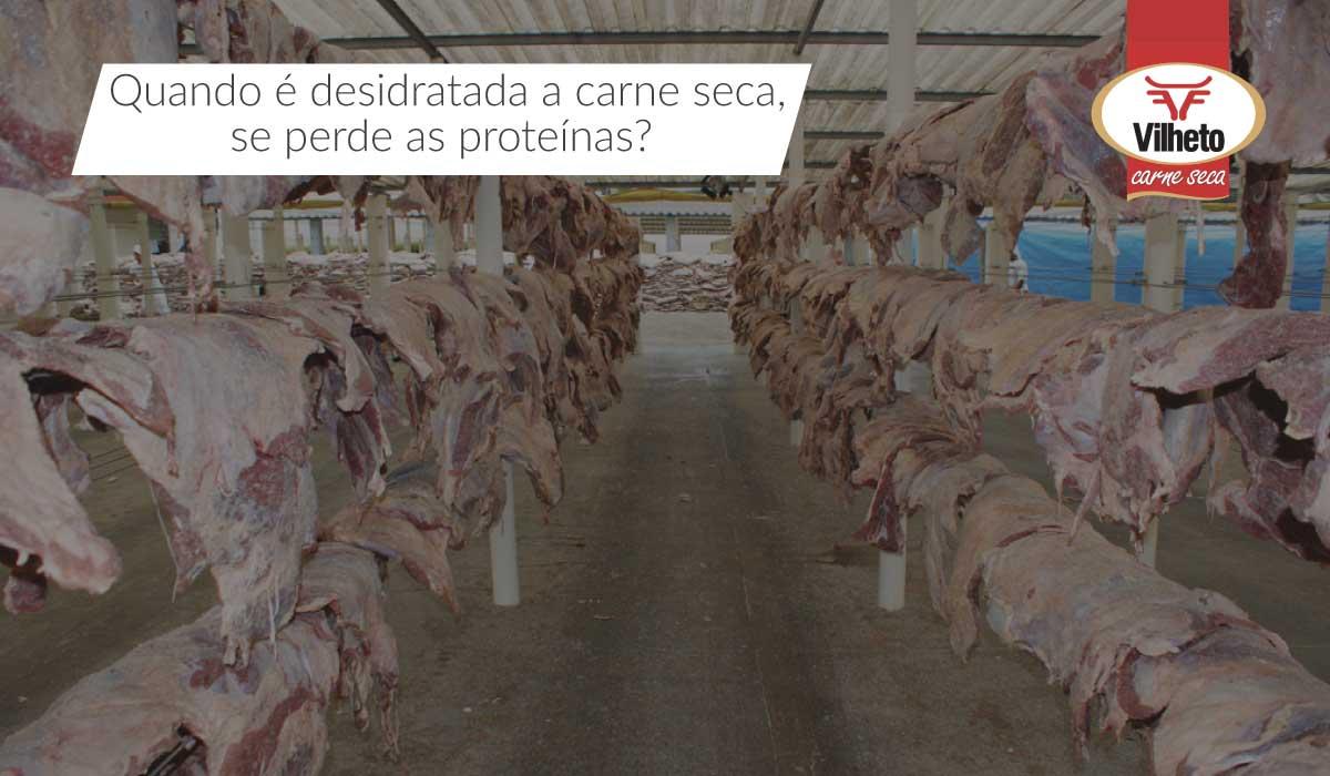 Quando é desidratada a carne seca, se perde as proteínas?
