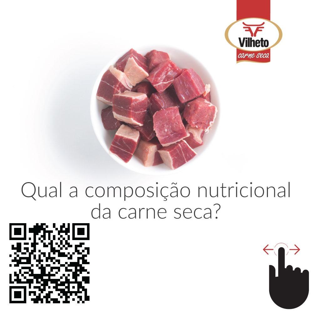 Qual a composição nutricional da carne seca?