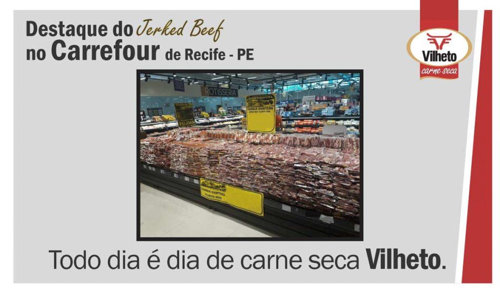 A carne seca Vilheto é uma das pioneiras e mais conhecidos no mercado do jerked beef do Brasil e no mundo; com mais de 50 anos de tradição.