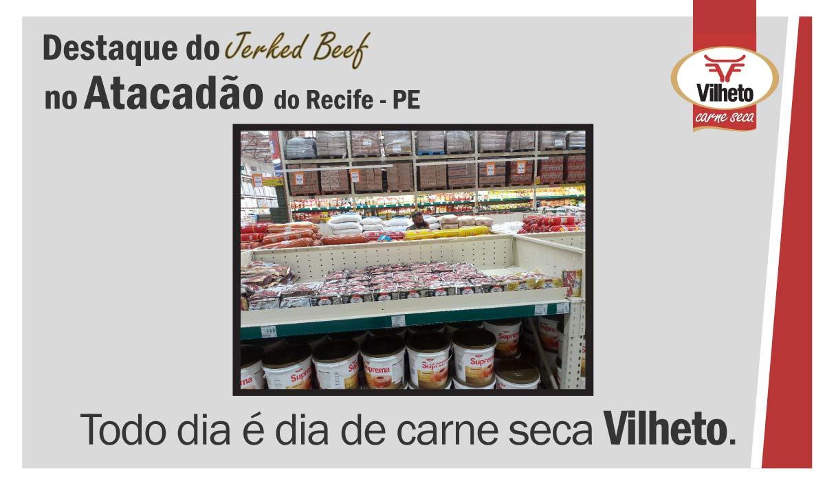 Carne seca Vilheto no Atacadão em Recife – PE