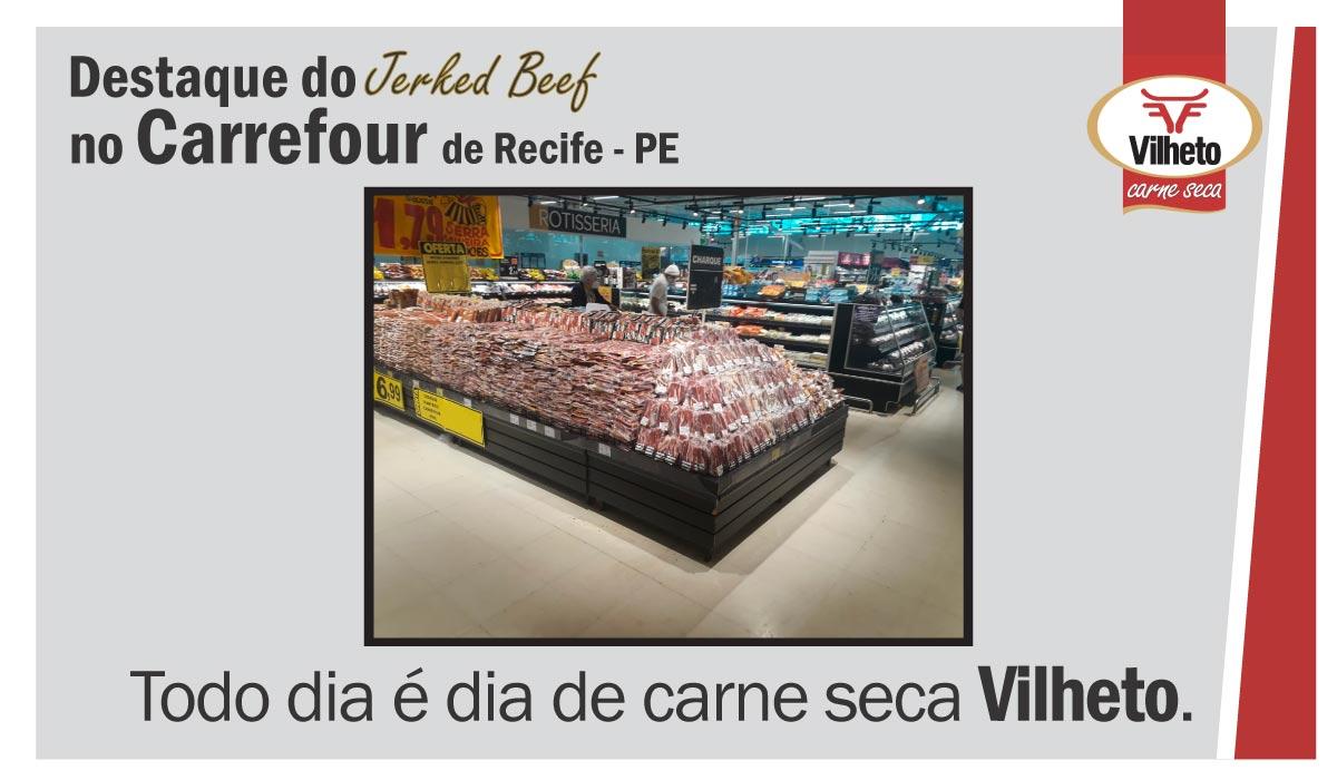 Carne seca Vilheto no Carrefour do Recife -PE