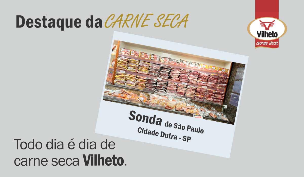 Carne seca Vilheto no Sonda de Cidade Dutra em São Paulo