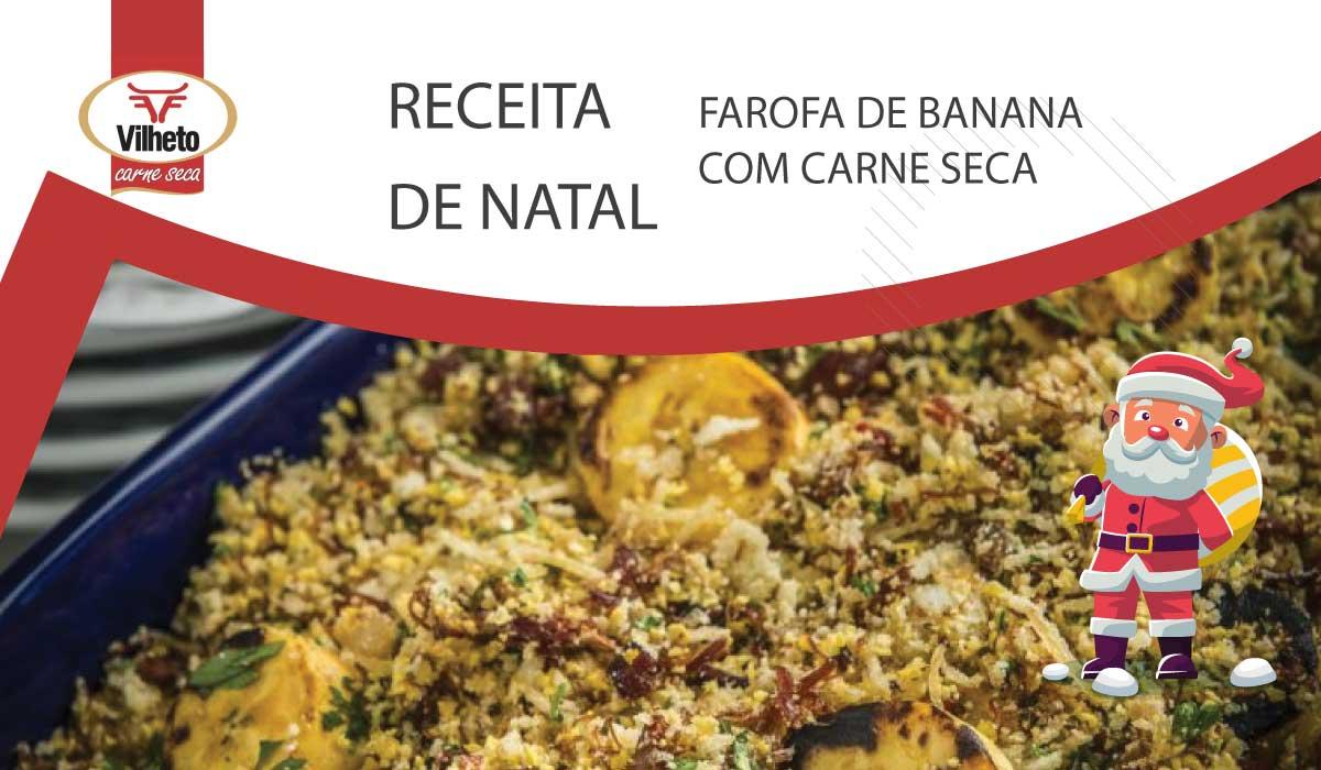 Farofa de Banana com Carne Seca