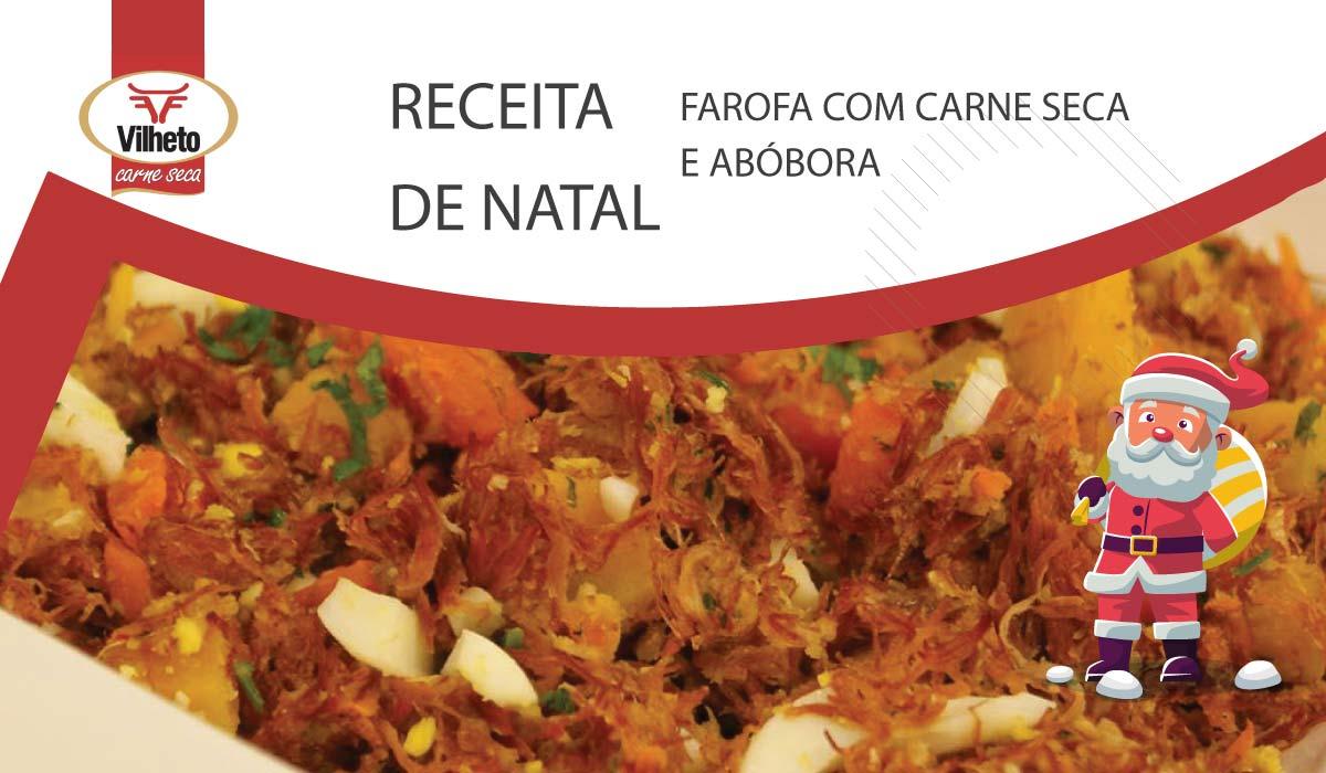 Receita de Natal - Farofa com carne seca e abóbora